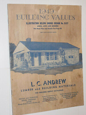 VINTAGE 1949 BUILDING Supply Catalog! Doors/Siding/Paint