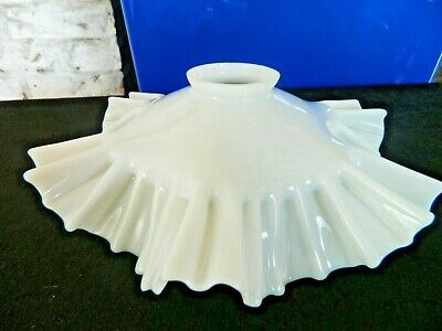 Superb French Vintage White Opaline Glass Coolie Light Shade very decorative