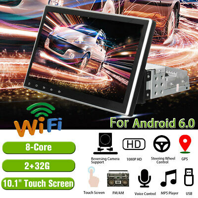 10.1'' Car Radio Touchscreen Android 1Din 8-Core GPS 4G Wifi 2+32G MP5 Player