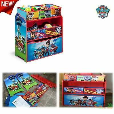 Paw Patrol Organizer Bin Storage Box Kids Toy Children/'s Bedroom Play Puppy Gift