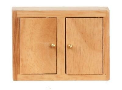 Dolls House Light Oak Kitchen Wall Unit Miniature 1:12 Scale Wooden Furniture