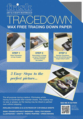 Frisk Tracedown Tracing Paper - A3 - Graphite - Pack Of Five Sheets