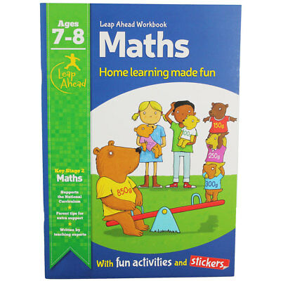 Leap Ahead Maths Workbook - Ages 7-8 (Paperback), Children's Books, Brand New