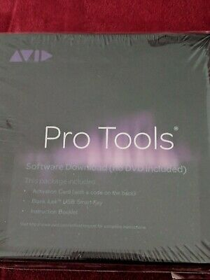 Brand New Sealed Avid Pro Tools Software with iLok USB Smart Key