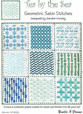 Tea by the Sea Hardanger Cross Stitch Leaflet + 9 Silk Mori + 1 Kreinik