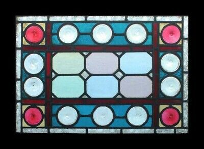 Amazing Rare Victorian Beauty Huge Rondels English Stained Glass Window