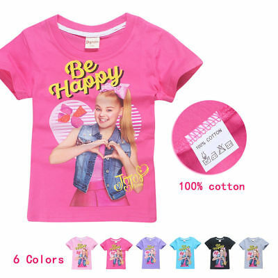 544a70d356f Kid Girl JOJO SIWA Summer Cotton Short Sleeve T-shirt Tops Holiday Birthday  Gift