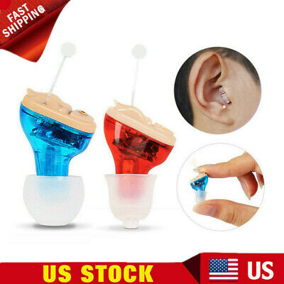 Mini Invisible In Ear Hearing Aid CIC Small Sound Voice Amplifier Enhancer US