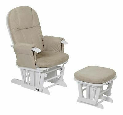 Tutti Bambini GC35 GLIDER CHAIR & STOOL WHITE Baby Child Nursery Furniture BN