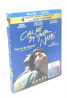 Call Me by Your Name (Blu-ray+Digital, 2018) NEW w/ RARE Slipcover