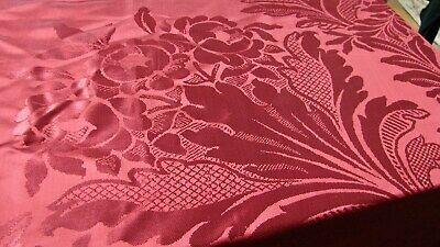 Antique Cranberry Silk? Victorian Portierre Coverlet Throw 96X80 S Leucio