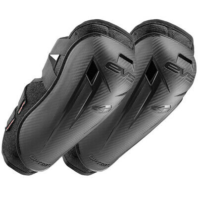 EVS Option Mini MX Elbow Guards Pads Armour Protection Motocross Black Pair Bike