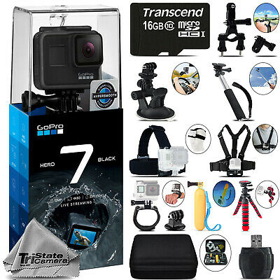 GoPro Hero 7 Black 4K60 Ultra HD, 12MP, Wi-Fi Waterproof Action Camera -Mega Kit