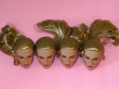 Tonner - LOT of 4 Blonde Doll HEADS - Repaint Artists Crafts