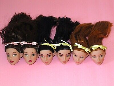 """Tonner - LOT of 6 Basic Miette 16"""" Fashion Doll HEADS - Repaint Artists Crafts"""