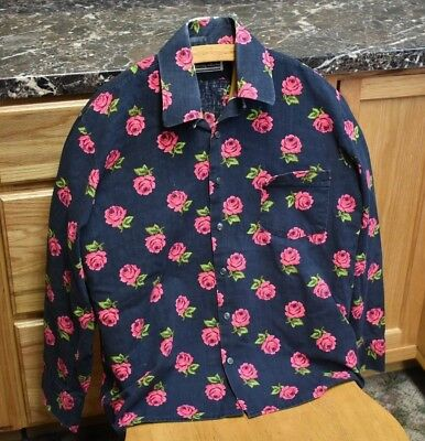 Jimi Hendrix Shirt Rose Bud Pattern OWNED BY JIMI HENDRIX Rock & Roll Legend!