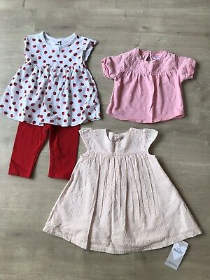 0769a2b31 BABY GIRLS 3-6 Months Summer Bundle M S Zara H M Bnwt Bnwot Dress ...