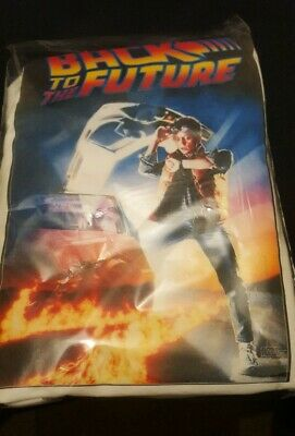 BACK TO THE FUTURE Movie Poster Printed On White T shirt Men/Women Unisex