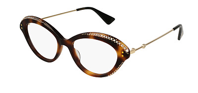 cdaa83e5205a GUCCI GG0215O 002 Eyeglasses Havana Brown Gold Frame 51mm -  249.99 ...