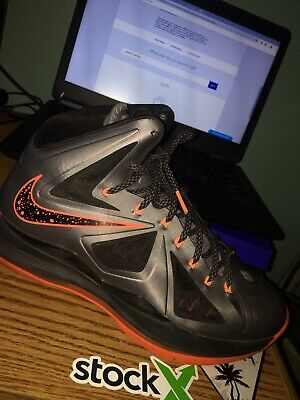 9ab51c02855c Perfect Condition Nike Lebron 10 Lava Total Orange Black Size 10.5