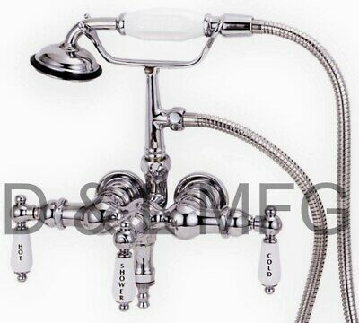 Clawfoot Tub Faucet with Down Spout, Drain and Supplies/PL