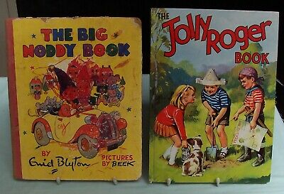 Vintage The Big Noddy Book by Enid Blyton & The Jolly Roger Book c1960's