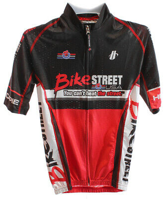 HINCAPIE VELOCITY MAX Men s Cycling Jersey Short Sleeve Med Red Black Bike  NEW 3bbd96b15