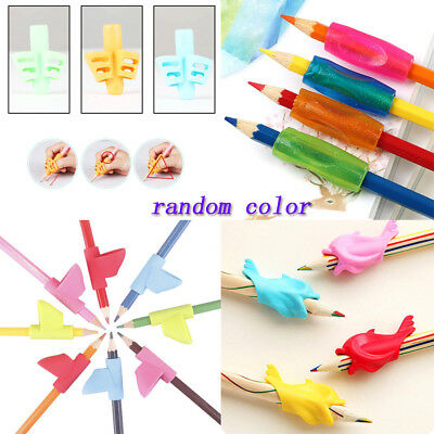 Non-toxic 3-5pcs Pencil Grip Tool Soft Rubber Pen For Kid Handwriting Correction