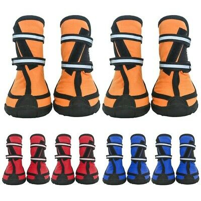 4pc Pet Dog Puppy Boots Feet Cover Waterproof Anti-slip Protective Rain Shoes US