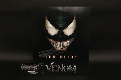 Autographs-original Tom Hardy Signed Autographed 8x10 Photo Venom Beckett Bas Coa