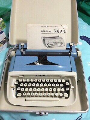 Imperial typewriter with instruction manual. Excellent condition