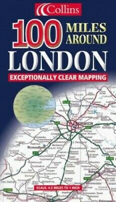 100 Miles Around London (Road Map) by Harper Collins Publisher Sheet map, folded