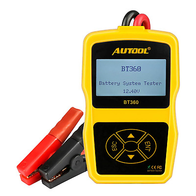 AUTOOL BT-360 Car Battery Tester, 12V Automative Load Tester CCA 100-2400...