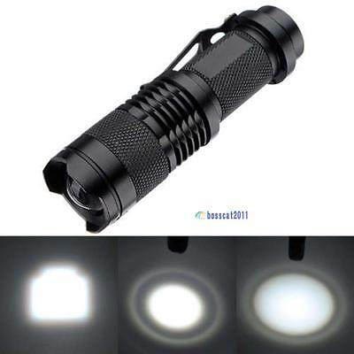 Q5 LBʌ Mini Flashlight 14500 AA Torch 1200LM Zoomable Lamp Light W/ Clip AE