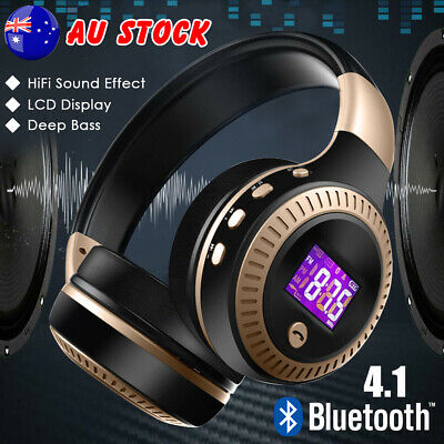 Bluetooth Wireless Headphones Noise Cancelling Headset HiFi Bass Stereo Earphone