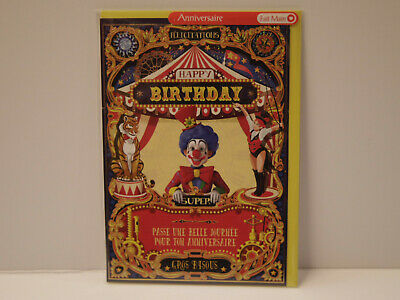 Happy Birthday Cirque clown Carte postale Anniversaire - Partners Card