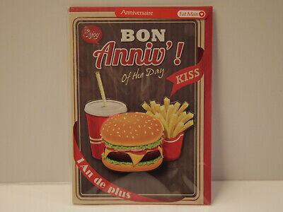 Bon Anniv' of the Day Hamburger & Frites Carte Anniversaire Partners Card