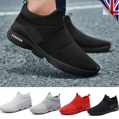 Men Casual Running Shoes Mesh Light Weight Non Slip Breathable Comfy Sneakers UK