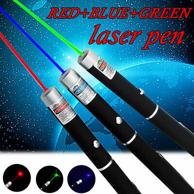 3Pcs Red Green Blue Laser Pointer Pen  650/523/405nm Mini AAA Lazer Visible Beam