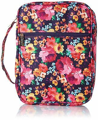 Mary Square Floral Zipper Bible Cover Raleigh Pink Multi 10.5 x 8 x 2.5