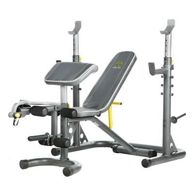 Golds Gym XRS20 with Squat Rack Weight Lifting Bench Press Exercise Workout NEW