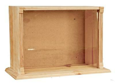 Dolls House Display Room Shadow Box with Perspex Front 1:12 Small Unfinished