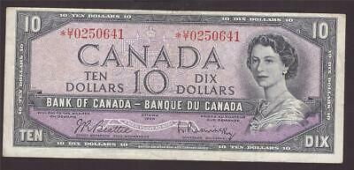 1954 Canada $10 dollar replacement note BC-40bA *U/T0250641 VF25