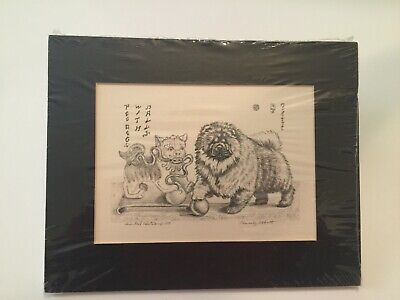 1996 Chow Chow Foo Dog Print Signed Beverly Abbott Limited Edition of 100