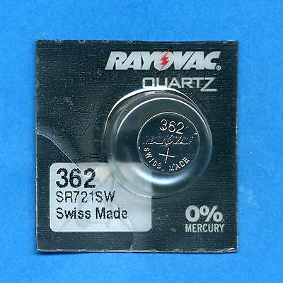 10 x 362 SR721SW SR58 V362 D362 Rayovac Silver Oxide Watch Cell Batteries 1.55V