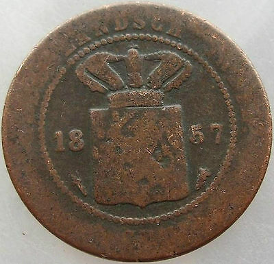 1857 Netherlands East Indies 1 Cent