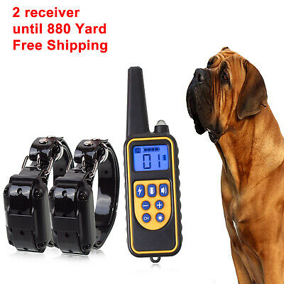 Dog Shock Collar With Remote Waterproof Electric  For Large 880 Yard Training