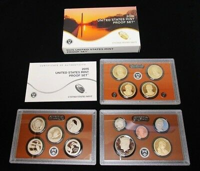 2015 Us Mint ***proof*** Coin Set 14 Coins