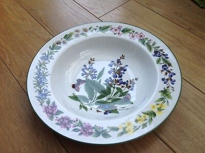 "Royal Worcester herbs fine porcelain sage Large 10"" shallow bowl Pasta/salad"