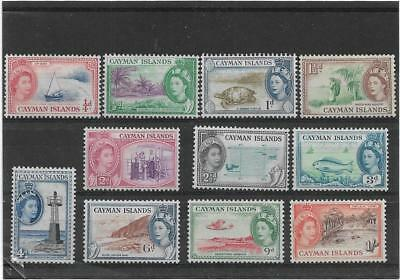 Cayman Islands 1953 Pictorial Short Set To 1/- Sg.148-158 Lightly Mounted Mint